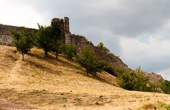 Castle on a hill. Castle view on a hill in Abruzzo royalty free stock photo