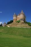 Castle hill in Dordogne France Royalty Free Stock Images