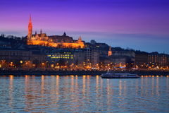 Castle Hill evening Budapest Royalty Free Stock Photos