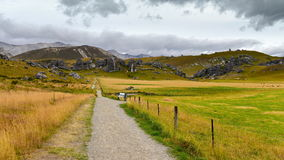 Castle Hill, famous for its giant limestone rock formations in New Zealand Royalty Free Stock Photography