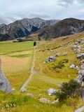 Castle Hill, famous for its giant limestone rock formations in New Zealand Stock Image