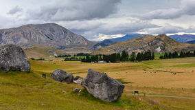 Castle Hill, famous for its giant limestone rock formations in New Zealand Royalty Free Stock Photo