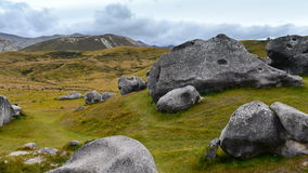 Castle Hill, famous for its giant limestone rock formations in New Zealand Stock Photo