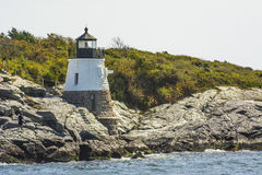 Castle Hill Light House, Newport, RI Stock Image
