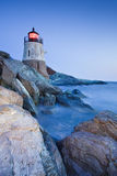 Castle Hill Lighthouse. Dusk view of the Castle Hill Lighthouse . Newport , Rhode Island Stock Photography