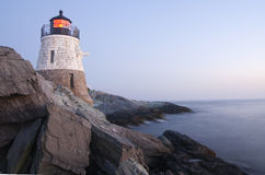 Castle Hill Lighthouse. In Rhode Island stock photos