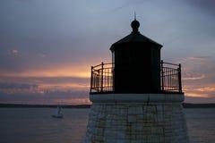 Castle Hill lighthouse. In Newport, Rhode Island Stock Photo