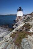 Castle Hill Lighthouse in Newport, Rhode Island stock photos