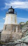 Castle Hill Lighthouse in Newport Rhode Island. An intimate shot of Castle Hill Lighthouse in Newport Rhode Island stock image
