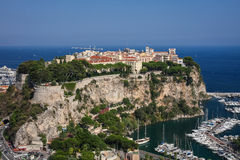 Castle hill of Monaco. Castle hill and old town of Monaco Stock Photo