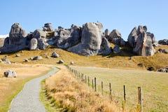 Castle Hill New Zealand. Stone Mountain Landscpe at Castle Hill New Zealand royalty free stock photo