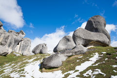Castle Hill, New Zealand. Castle Hill Rock mountain in New Zealand stock image