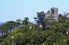 Castle on the hill in Sintra, Portugal Stock Photo