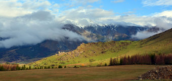 Castle Hill After The Storm, Canterbury New Zealand stock photography