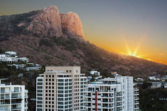 Castle Hill Townsville. Sunset looking towards Castle Hill Townsville Australia stock images