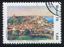 Castle Hill by Victor Meirelles. BRAZIL - CIRCA 1978: stamp printed by Brazil, shows Castle Hill by Victor Meirelles, circa 1978 stock images