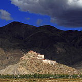 Castle Hill were Shigatse Royalty Free Stock Photography