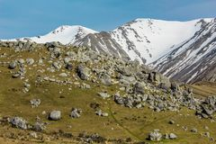 Castle Hill during winter time, South Island, New Zealand.  stock photos