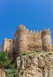 Castle on the hilltop above Almansa Stock Photo