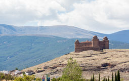 Castle on hilltop above La Calahorra Spain Royalty Free Stock Photo