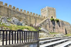 Castle in the historic city of Obidos Royalty Free Stock Photography