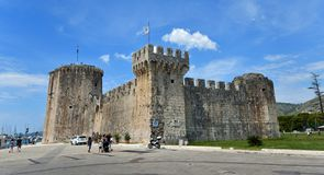 Castle in the historic Croatian town of Trogir. stock photo