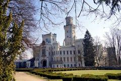 The castle in Hluboká nad Vltavou. In spring royalty free stock image
