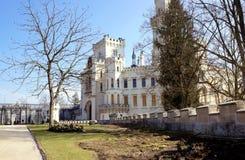 The castle in Hluboká nad Vltavou. In spring stock images