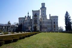 The castle in Hluboká nad Vltavou. In spring royalty free stock photo