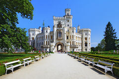 Castle Hluboka nad Vltavou Stock Photography