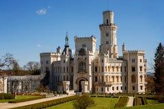 Castle in Hluboka nad Vltavou, Czech Republic. Formal Gardens and Castle in Hluboka nad Vltavou, Czech Republic royalty free stock image