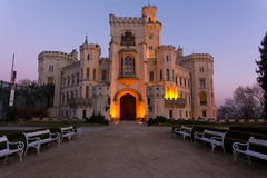Castle Hluboka nad Vltavou Stock Photo