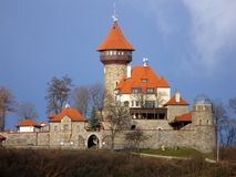 Castle Hnevin in city Most Royalty Free Stock Photos