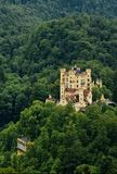 Castle Hohenschwangau. View from the height of the castle Hohenschwangau Stock Photos