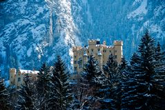 The castle of Hohenschwangau Stock Photos