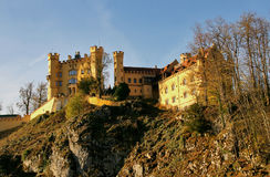 Castle of Hohenschwangau. In fall foliage Stock Photos