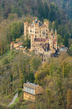 The castle of Hohenschwangau in Bavaria, Germany. Lower castle in Neuschwanstein Schwangau, Bavaria, Germany Royalty Free Stock Photos