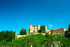 The castle of Hohenschwangau in Germany Royalty Free Stock Photo