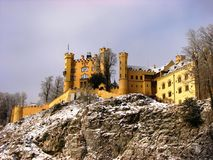 Castle Hohenschwangau on a hill Stock Photos