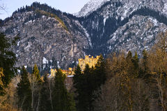 Castle Hohenschwangau winter scenery Stock Photography