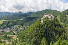 Castle Hohenwerfen in Pongau valley Austria. Former film location royalty free stock image