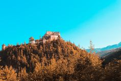 Castle Hohenwerfen in Salzburg royalty free stock images