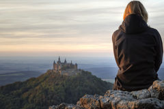 Castle Hohenzollern in autumn Royalty Free Stock Photos
