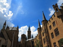 Castle Hohenzollern central courtyard view Royalty Free Stock Photography