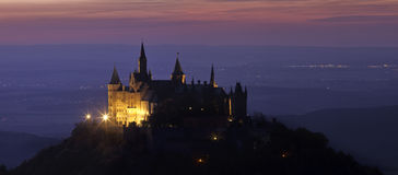 Castle Hohenzollern at night Royalty Free Stock Image