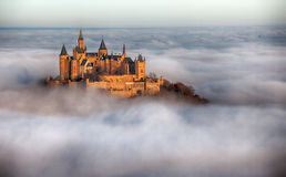 Castle Hohenzollern over the Clouds stock image