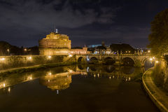 Castle of the Holy Angel by night Royalty Free Stock Image