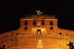 Castle of Holy Angel in Rome Stock Image