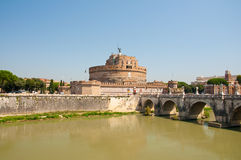 Castle of the Holy Angel in Rome, Italy. Royalty Free Stock Image