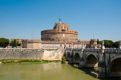 Castle of the Holy Angel in Rome, Italy. Royalty Free Stock Photos